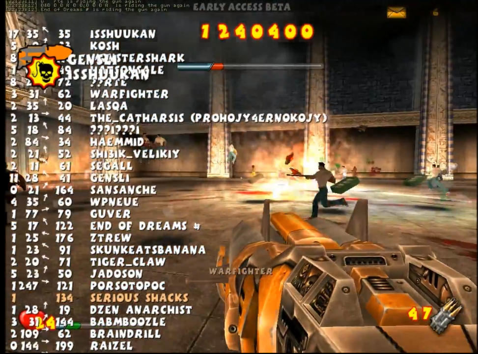 110 players in Serious Sam Classics: Revolution