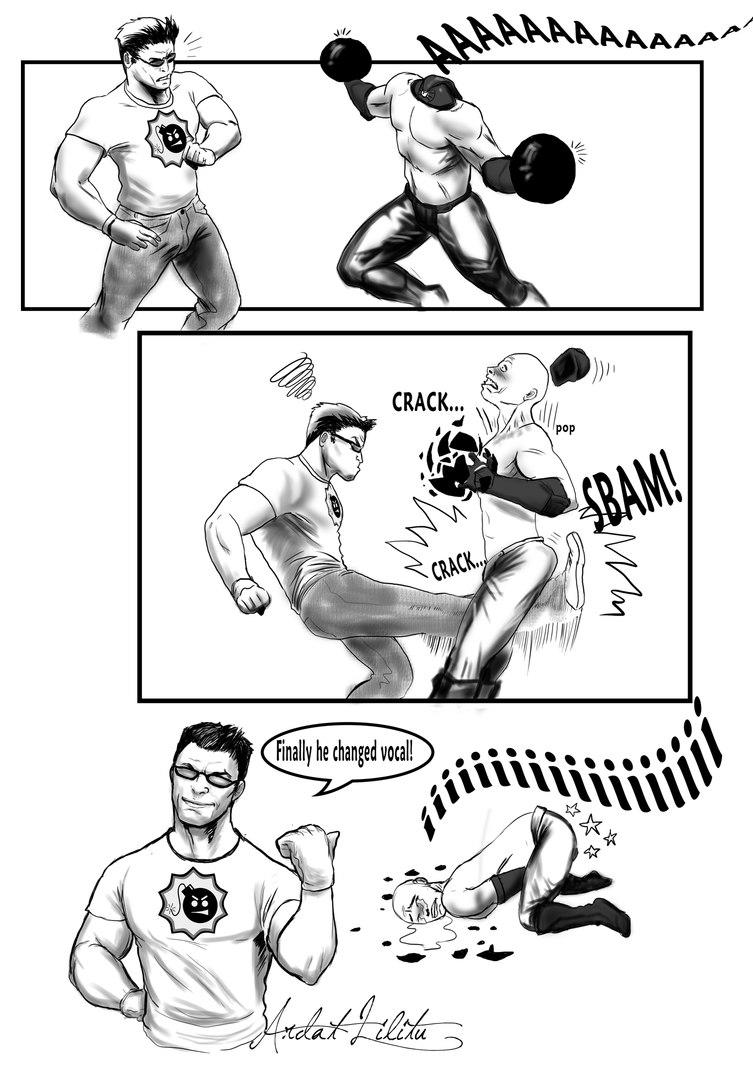 Забавный мини-комикс от ArdathLilitu.«Наконец-то по другому запел!»…
