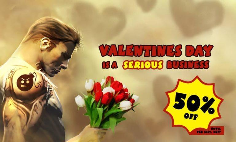 В честь уже прошедшего дня Святого Валентина, до 21 февраля в магазине мерча Croteam на все товары будет держаться 50% скидка….