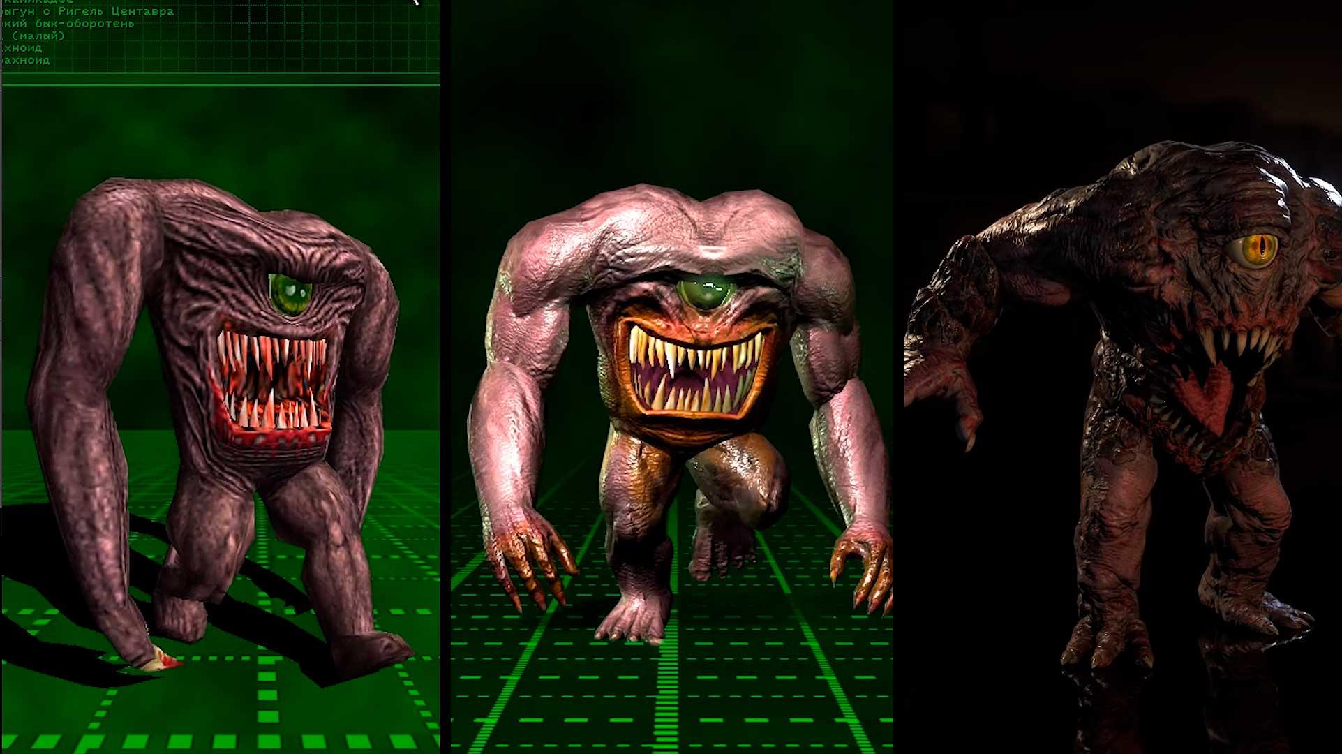 Эволюция врагов из серии игр Serious Sam